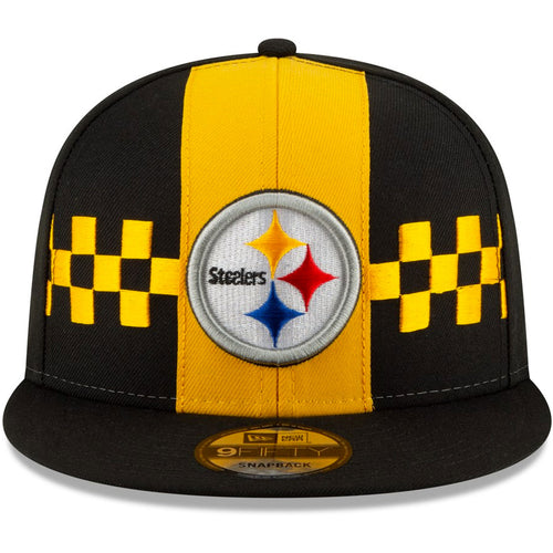 bfbb8ed3c Pittsburgh Steelers 2019 NFL Draft On-Stage Checker Black/Yellow 9Fifty  Snapback Hat
