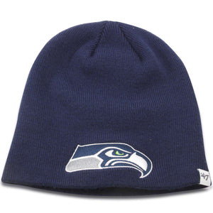 Seattle Seahawks Navy Blue Skully Beanie