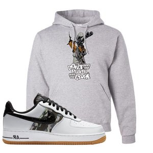 Air Force 1 Low Camo Hoodie | Don't Hate The Playa, Ash