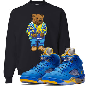 This black sweater will match great with your Jordan 5 Alternate Laney JSP shoes