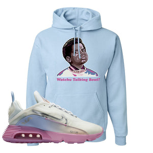 Air Max 2090 Airplane Travel Hoodie | Watchu Talking Bout, Light Blue