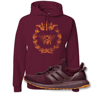 Royal Bee Leaf Maroon Pullover Hoodie to match Ivy Park X Adidas Ultra Boost Sneaker