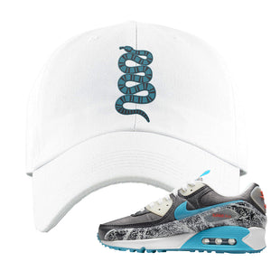 Air Max 90 Rice Ball Dad Hat | Coiled Snake, White