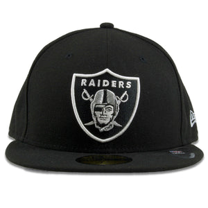 Oakland Raiders Team Basic Black New Era 59Fifty Black Fitted Cap
