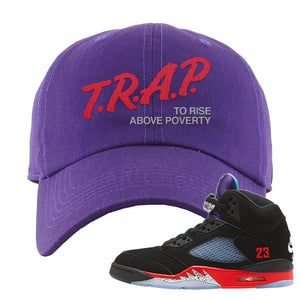 Air Jordan 5 Top 3 Dad Hat | Purple, Trap To Rise Above Poverty