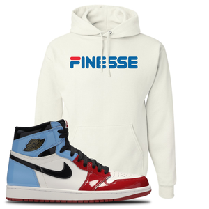Air Jordan 1 Fearless Finesse White Made to Match Pullover Hoodie