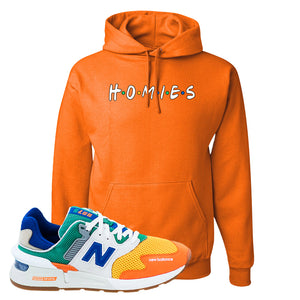 997S Multicolor Sneaker Safety Orange Pullover Hoodie | Hoodie to match New Balance 997S Multicolor Shoes | Homies