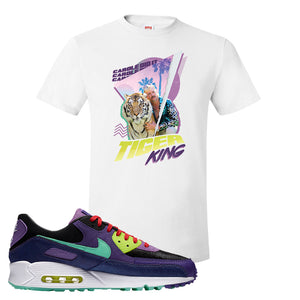 Air Max 90 Cheetah T Shirt | Retro Tiger King, White