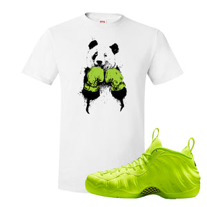 Air Foamposite Pro Volt T Shirt | Boxing Panda, White