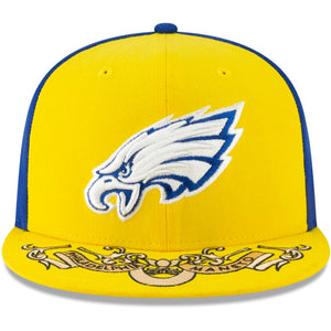 Philadelphia Eagles 2019 NFL Draft City Flag Color Blue/Yellow 9Fifty Snapback Hat