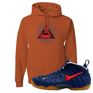 Air Foamposite Pro USA Hoodie | Texas Orange, All Seeing Eye