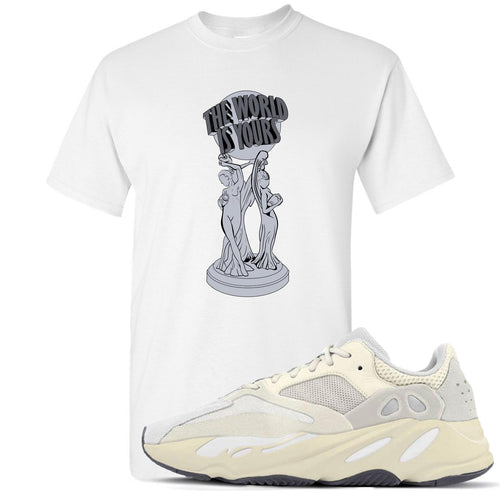 Yeezy Boost 700 Analog Sneaker Match The World Is Yours White T-Shirt
