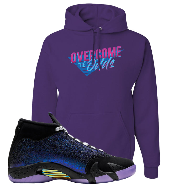 Jordan 14 Doernbecher Hoodie | Purple, Overcome The Odds