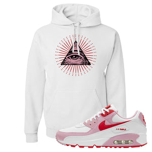 Air Max 90 Love Letter Hoodie | All Seeing Eye, White