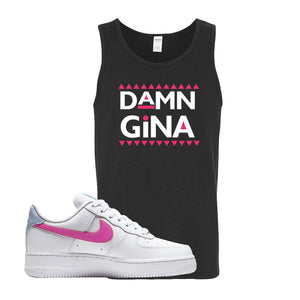 Air Force 1 Low Fire Pink Tank Top | Black, Damn Gina