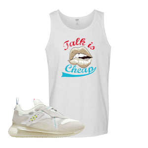 Air Max 720 OBJ Slip White Tank Top | White, Talk is Cheap
