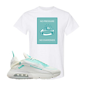 Air Max 2090 Pristine Green T Shirt | White, No Pressure No Diamond