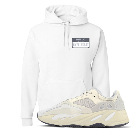 Yeezy Boost 700 Analog Sneaker Match Hello My Name Is Hype Beast Pablo White Hoodie