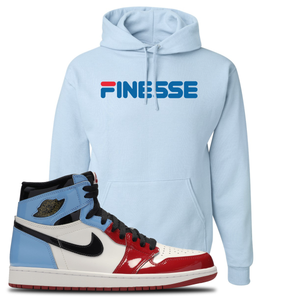 Air Jordan 1 Fearless Finesse Light Blue Made to Match Pullover Hoodie