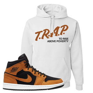 Air Jordan 1 Mid Wheat Hoodie | Trap To Rise Above Poverty, White