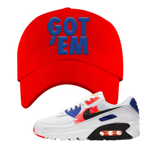 Air Max 90 Paint Streaks Dad Hat | Got Em, Red