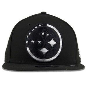 Pittsburgh Steelers American Flag Fill Black 9Fifty Snapback Hat