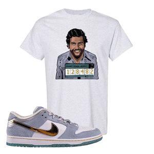 Sean Cliver x SB Dunk Low T Shirt | Escobar Illustration, Ash
