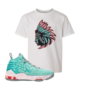 LeBron 17 'South Beach' Kid's T Shirt | White, Indian Chief