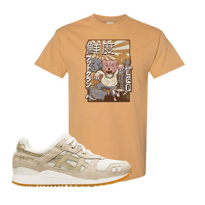 GEL-Lyte III 'Monozukuri Pack' T Shirt | Old Gold, Attack Of The Bear