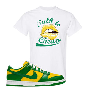 SB Dunk Low Brazil  T Shirt | White, Talk Is Cheap