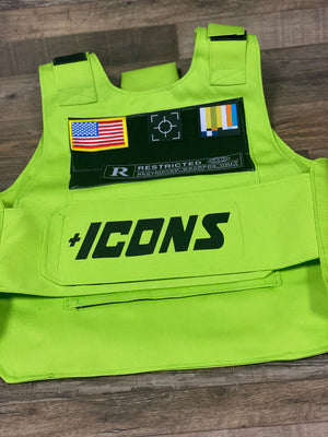 Tactical Utility Vest | Removable Patches | Green | Military Vest | OSFMfull shot
