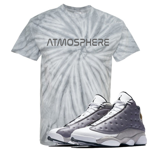 "Jordan 13 Atmosphere Grey ""Atmosphere"" Tie Dye Light Gray Shirt"