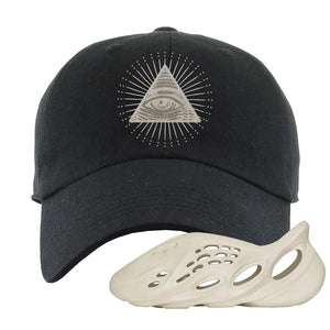 Yeezy Foam Runner Sand Dad Hat | All Seeing Eye, Black