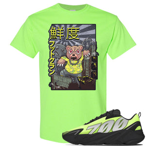 Yeezy 700 MNVN Phosphor T Shirt | Attack Of The Bear, Neon Green