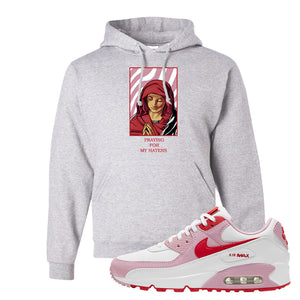 Air Max 90 Love Letter Hoodie | God Told Me, Ash