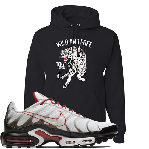 Nike Air Max Plus White University Red Sneaker Match Tiger Black Hoodie