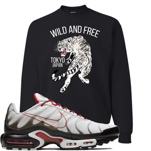 Nike Air Max Plus White University Red Sneaker Hook Up Tiger Black Sweater