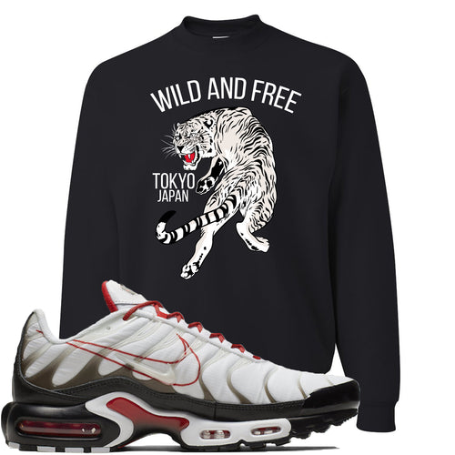 Nike Air Max Plus White University Red Sneaker Match Tiger Black Sweater