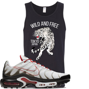 Nike Air Max Plus White University Red Sneaker Hook Up Tiger Black Mens Tank Top
