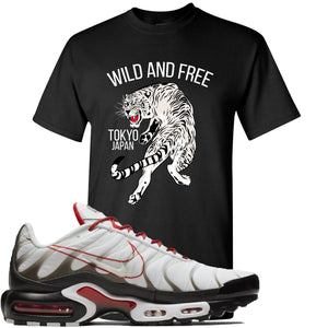 Nike Air Max Plus White University Red Sneaker Hook Up Tiger Black T-Shirt