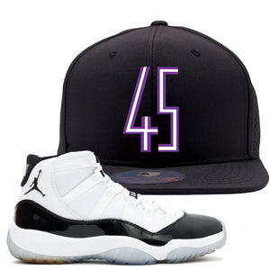 Match your pair of Jordan 11 Concord 45 sneakers with this Concord 11 sneaker matching dad hat today