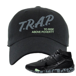 Nike KD 13 Black And Dark Grey Dad Hat | Trap To Rise Above Poverty, Black