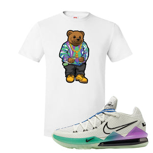 LeBron 17 Low Glow In The Dark T Shirt | White, Sweater Bear