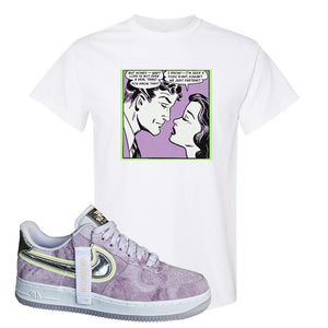 Air Force 1 P[her]spective T Shirt | White, Fake Love Comic