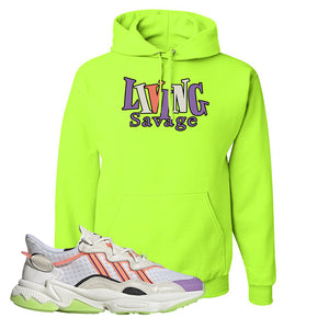 Ozweego Chaos Hoodie | Safety Green, Living Savage