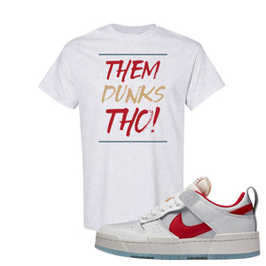 Dunk Low Disrupt Gym Red T Shirt | Them Dunks Tho, Ash