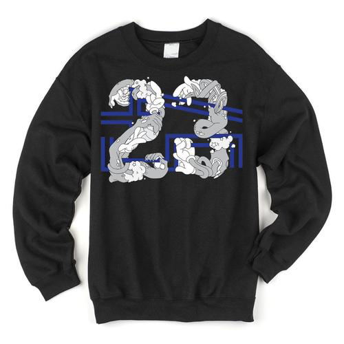 Space Jam 23 X 45 Crewneck Sweatshirt To Match Jordan Space Jam 11s