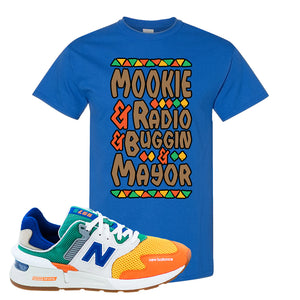 997S Multicolor Sneaker Royal T Shirt | Tees to match New Balance 997S Multicolor Shoes | Mookie And Gang