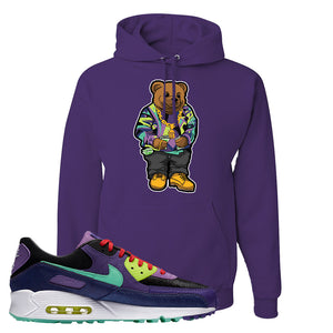 Air Max 90 Cheetah Hoodie | Sweater Bear, Dark Purple