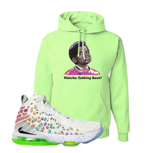 Lebron 17 Air Command Force Hoodie | Neon Green, Watcha Talking Bout